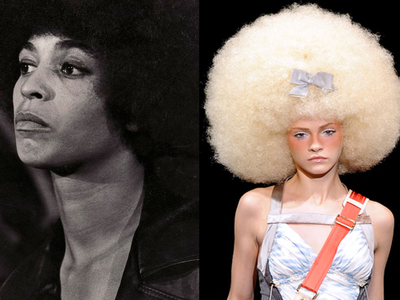 Angela Davis & Louis Vuitton model