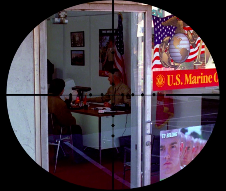 A sniper targets a Marine Corp recruiter in NCIS S1E13