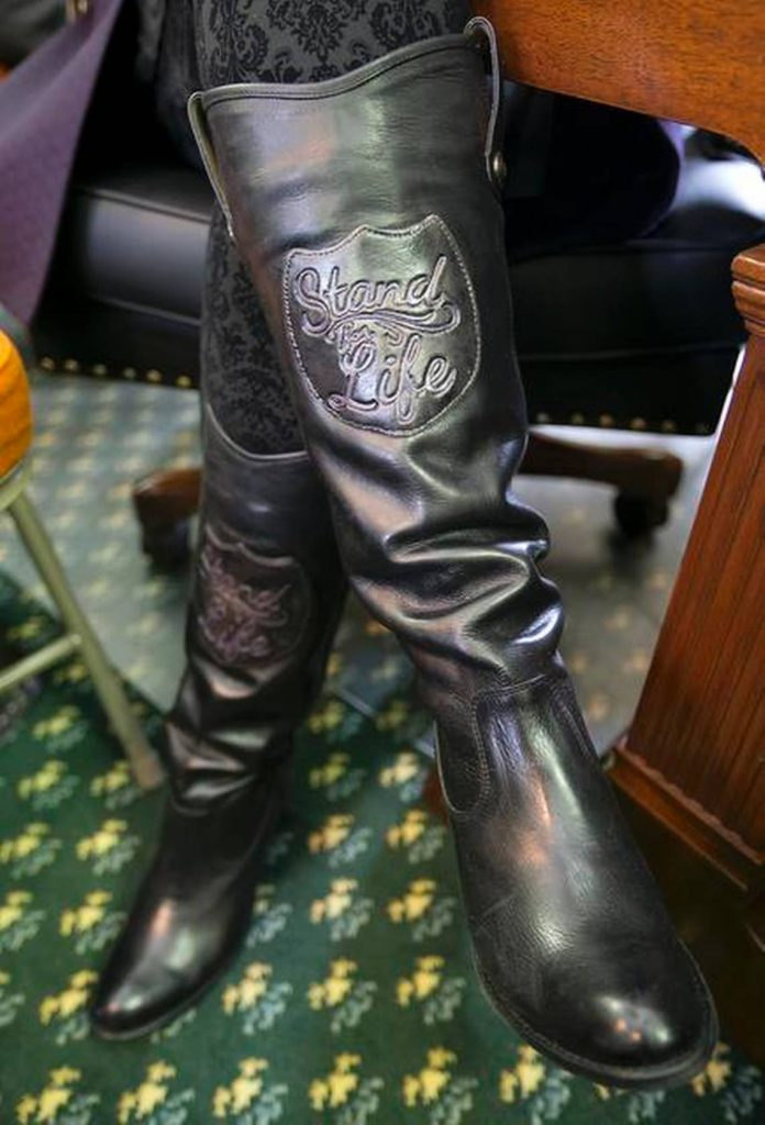 Konni Burton's Anti-Abortion Boots