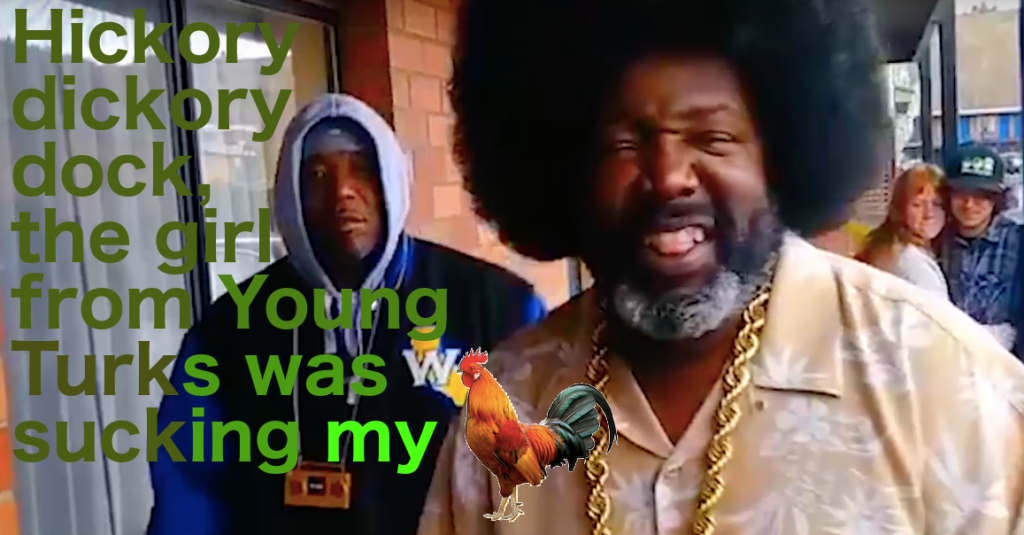 Afroman, the poet himself, singing lyrics Simon & Garfunkel would kill for